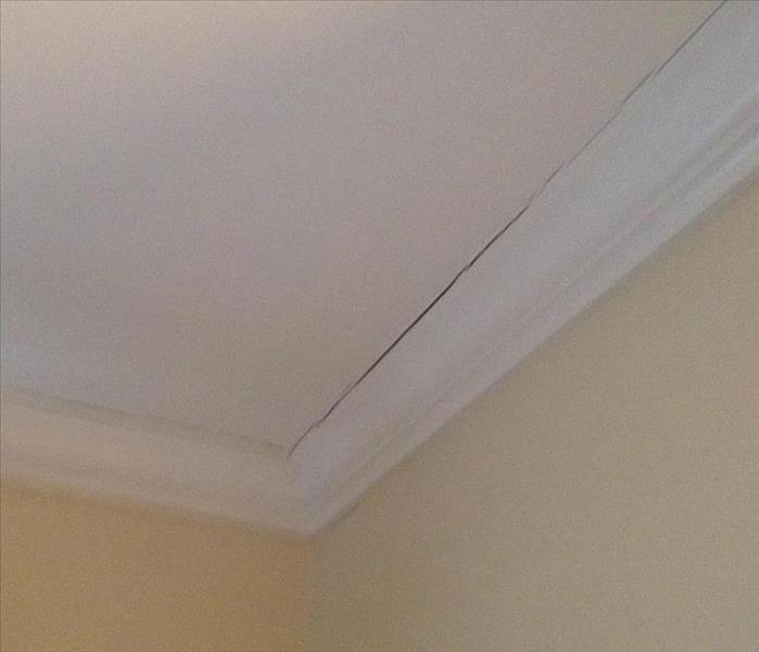 The same ceiling after SERVPRO dried and restored it