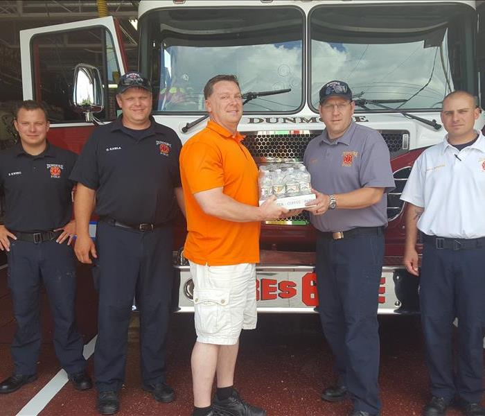 Fire Department Water Donations